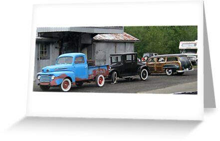 3 Generations of Motor Vehicles. by Maureen Dodd