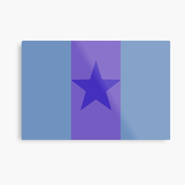 Star Flag In Blue&Purple Metal Print