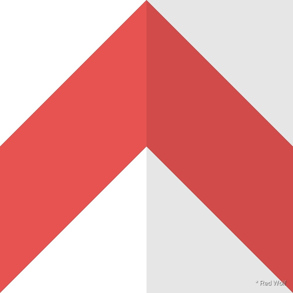 Geometric Pattern: Chevron: Light/Red by * Red Wolf