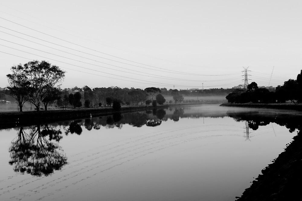 Dawn on the Maribyrnong by djwl