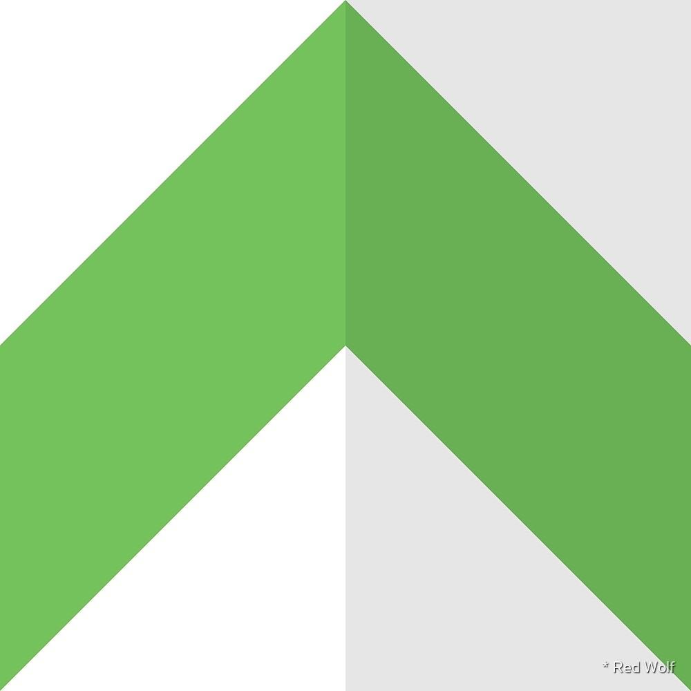 Geometric Pattern: Chevron: Light/Green by * Red Wolf