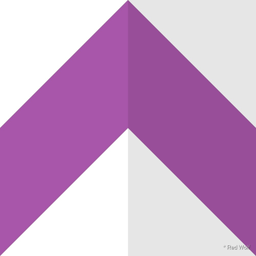 Geometric Pattern: Chevron: Light/Purple by * Red Wolf