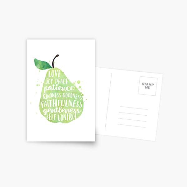 Fruit of the spirit watercolor pear Postcard