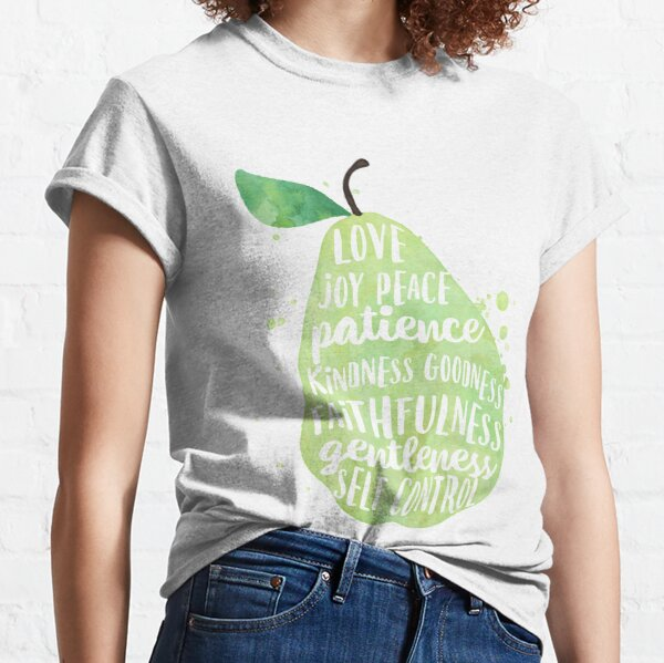 Fruit of the spirit watercolor pear Classic T-Shirt