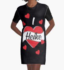 I Love Heike - Ich liebe Heike T-Shirt Kleid