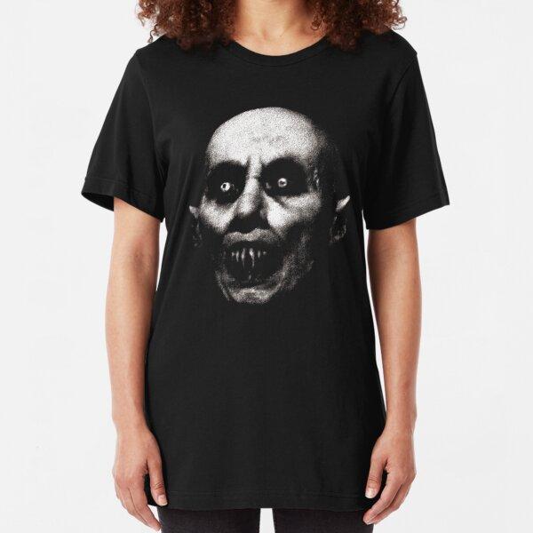 Nosferatu the Vampire cult classic goth gothic horror lover gift Halloween t shirt Slim Fit T-Shirt