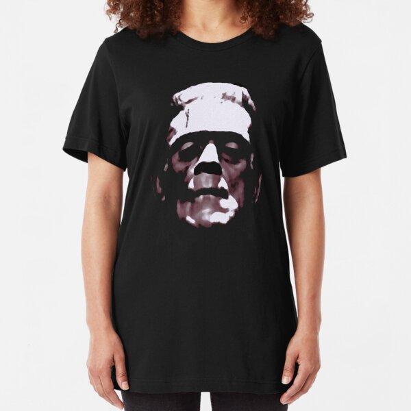 Frankenstein monster cult movie Halloween horror lover gift t shirt Slim Fit T-Shirt