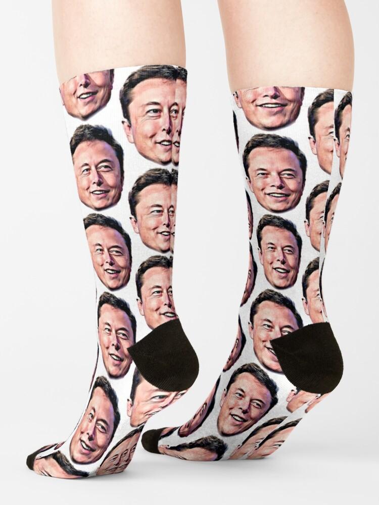 Alternate view of Elon Musk sticker Socks