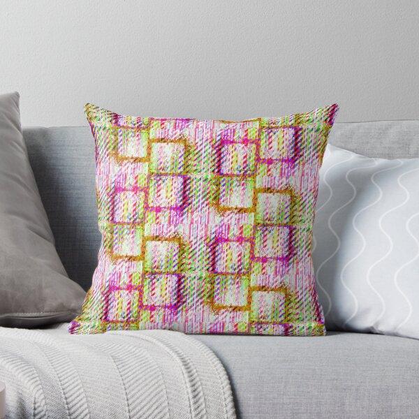 Splat Plaid - Jelly Beans Throw Pillow