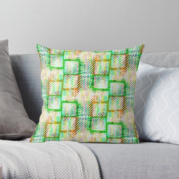 Splat Plaid - Spring Throw Pillow
