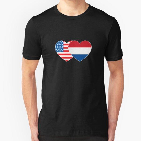 Netherlands Country Dutch Football Team Soccer Heritage Men/'s V-Neck Sport Tee