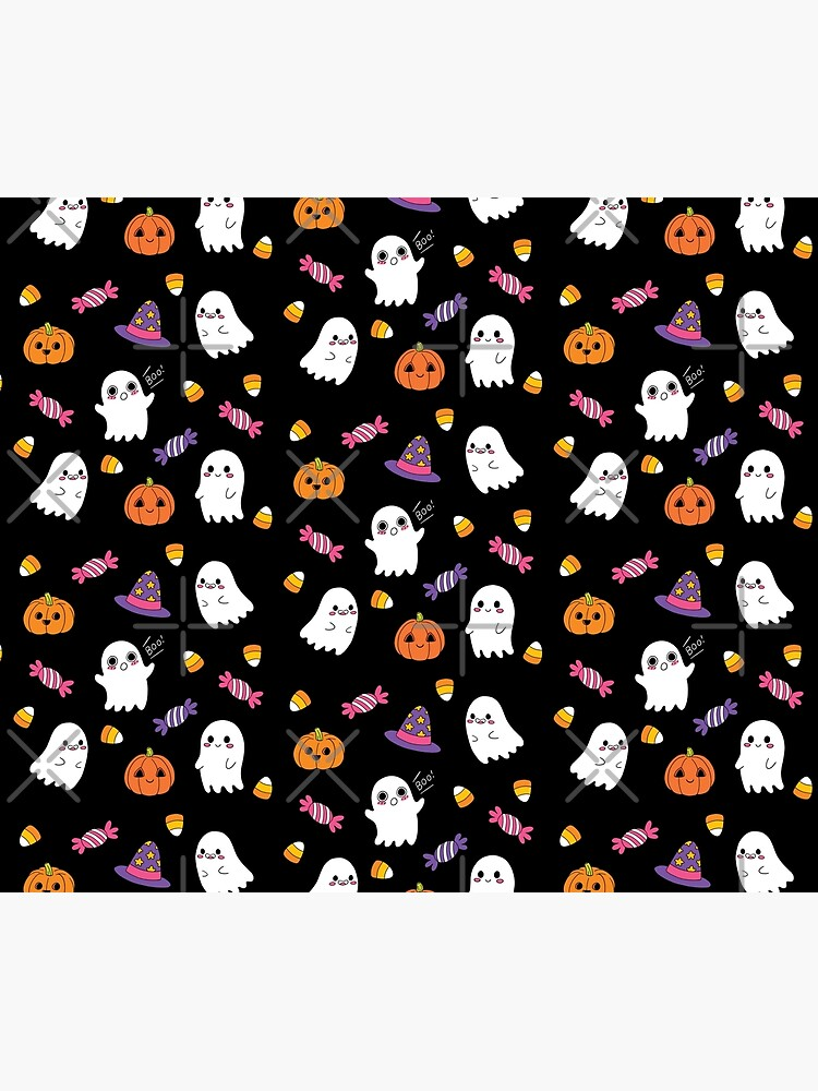 Cute Spoopy Ghosts and Halloween Candy by lucypooki