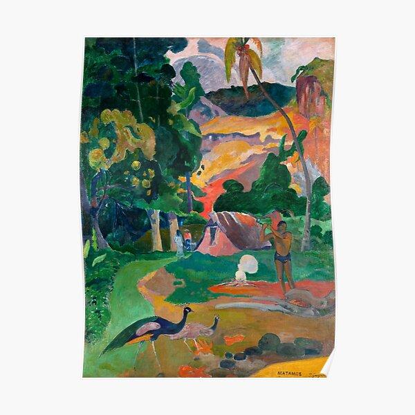 Paul Gauguin - Landscape with Peacocks - Matamua - Matamoe - Le Paysage avec des Paons Poster