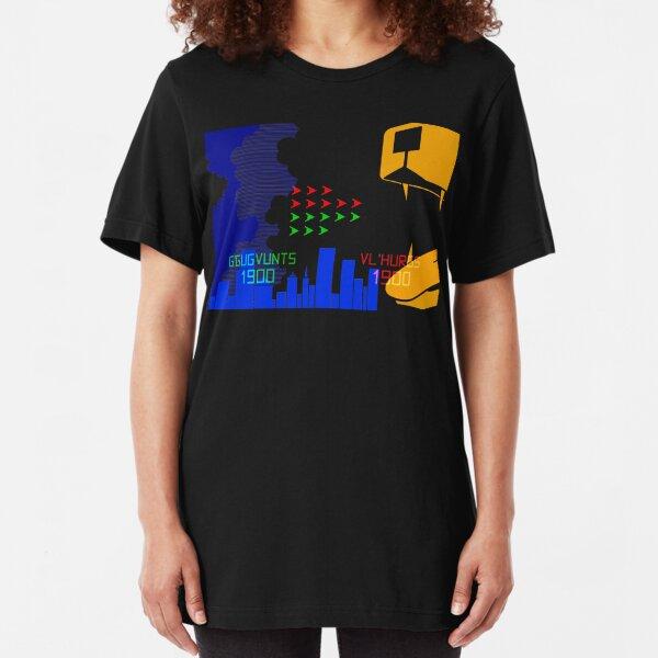 NDVH G'Gugvunts vs Vl'Hurgs vs Dog 1 H2G2 Slim Fit T-Shirt