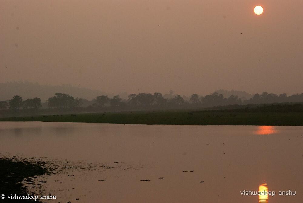 the sunset by vishwadeep  anshu