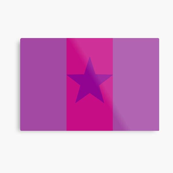 Star Flag In Purple&Pink Metal Print