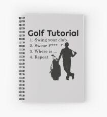 Golf Tutorial Spiral Notebook