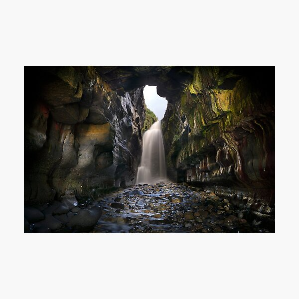 Donegals hidden waterfall Photographic Print