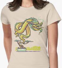 Bonsai Dragon Womens Fitted T-Shirt