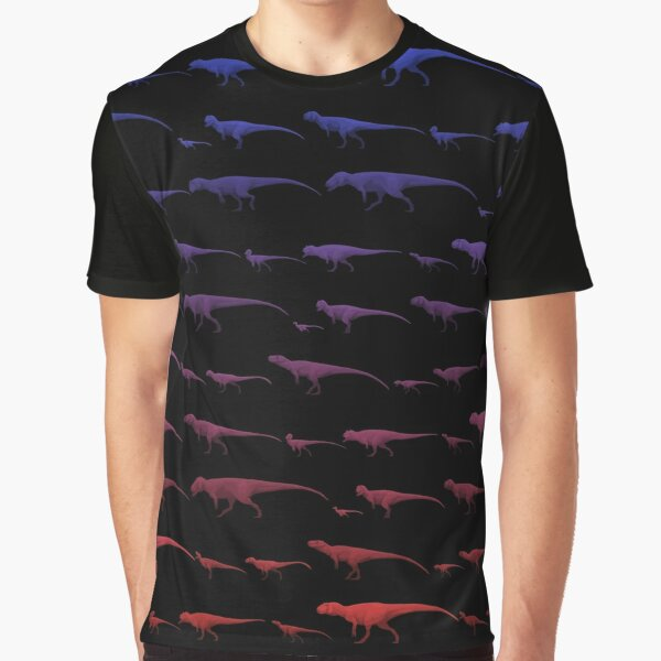 Morrison Formation Theropods (Pattern) Graphic T-Shirt