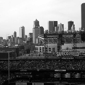 Safeco Field Black and White by nromaneschi