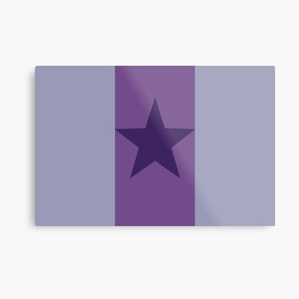 Star Flag In Purple Metal Print