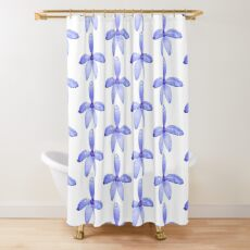 Silky Blue Native Orchid Shower Curtain