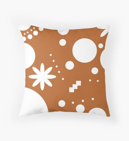 Mpattern Orange/white Throw Pillow