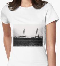 Cooper River Bridge Black & White Women's Fitted T-Shirt