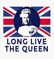 Queen Elizabeth II Long Live the Queen Photographic Print