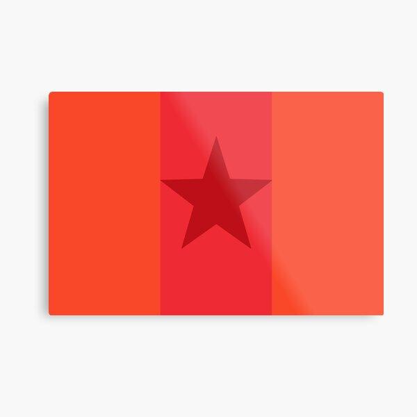 Star Flag In Red Metal Print