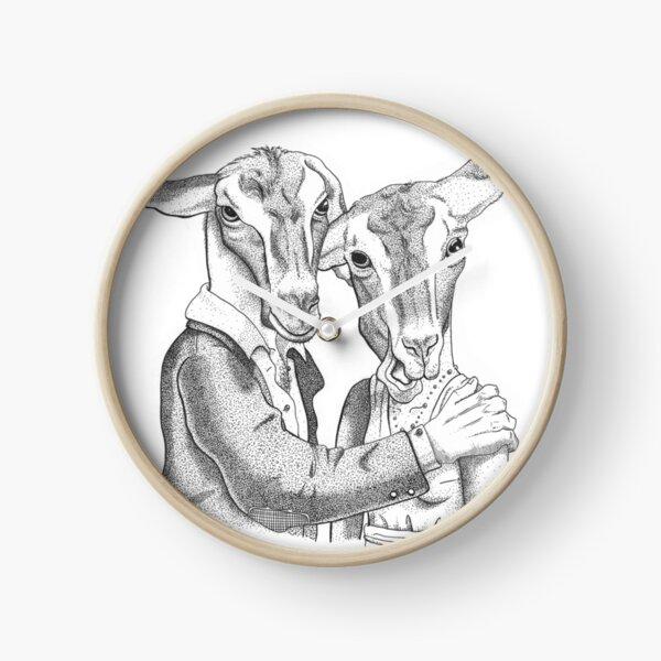 Goats portrait Clock