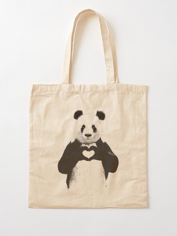 Alternate view of All you need is love Tote Bag