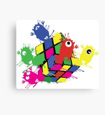 Cube monsters Canvas Print