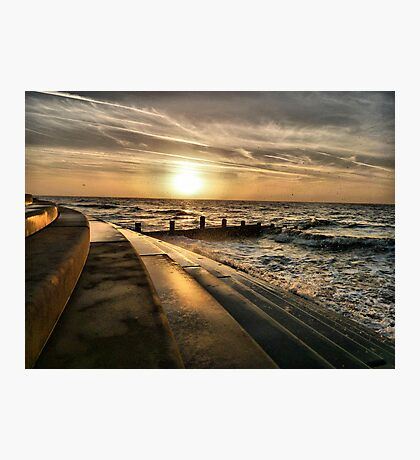 Golden Sunset - Cleveleys . Photographic Print
