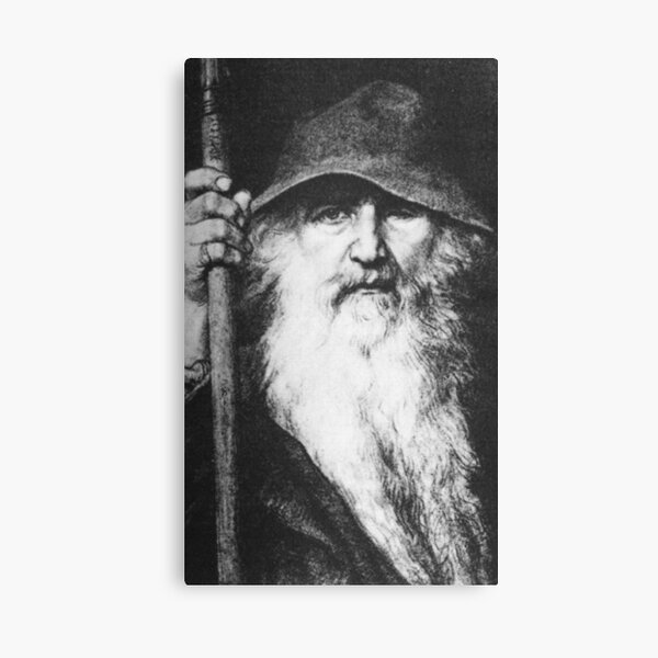 ODIN. In his guise as a wanderer, by Georg von Rosen 1886. Canvas Print
