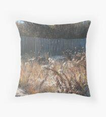 Goldenrod at Narragansett Beach Throw Pillow
