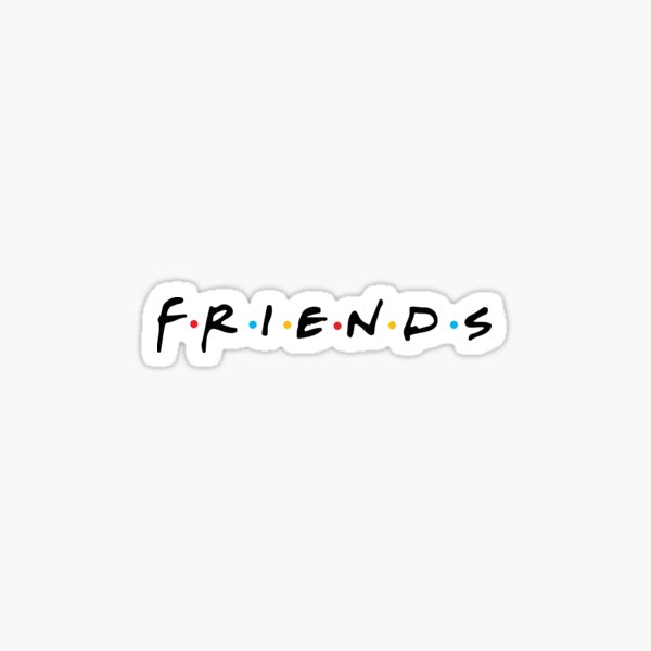 FRIENDS black Sticker