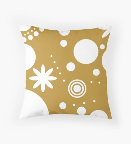 Mpattern Sennep/White Throw Pillow