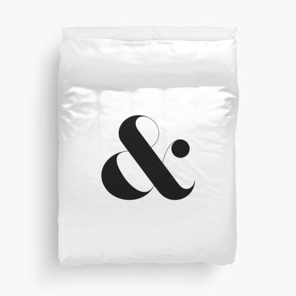 Minimalist Ampersand Duvet Cover