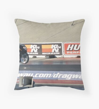 Ready to rip the 1/4 mile strip!; Fomoso Raceway; Mcfarland, CA; USA Lei Hedger Photography All Rights Reserved Throw Pillow