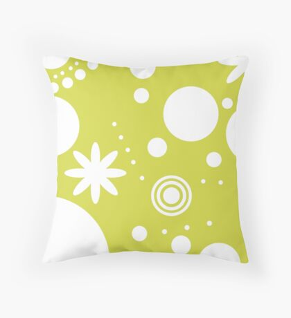 Mpattern Lime/White Throw Pillow