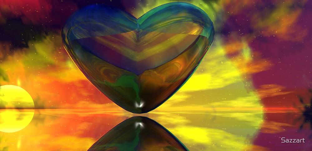 A Heart's Rastafarian Riot - for Trishm by Sazzart
