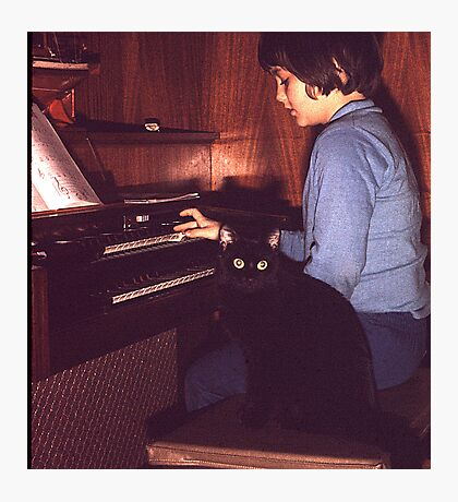 Musician and Friend Photographic Print