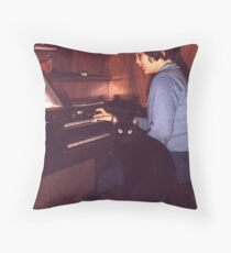 Musician and Friend Throw Pillow