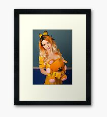 Garfield and Pooky Framed Print