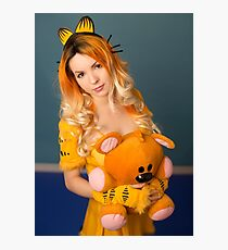 Garfield and Pooky Photographic Print