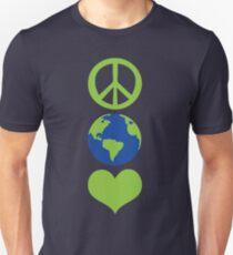 Peace love Earth Unisex T-Shirt