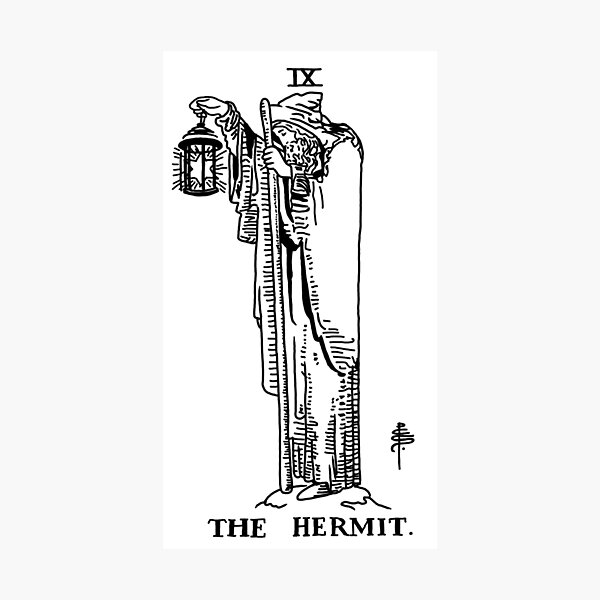 The Hermit Tarot Card Photographic Print