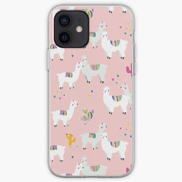 Alpaca pink iPhone Soft Case